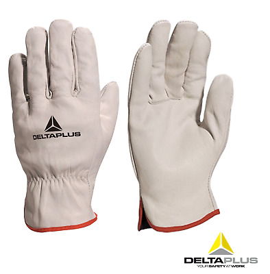 Leather Work Safety Gloves High Quality HGV Drivers Fork Lift Truck Gardening