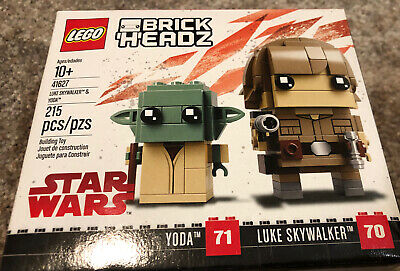 New /& Factory Sealed 41627 LEGO BrickHeadz Yoda /& Luke Skywalker