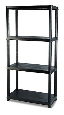 Addis 4 Tier Plastic Shelving Shed Storage Heavy Duty Unit Black 516571ebay