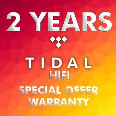 Tidal Hi-Fi 2 Years/ 24 Months  - Worldwide - Fast delivery