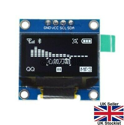 """128X64 0.96"""" OLED I2C IIC Serial LCD LED SSD For Arduino Display Module Clip"""