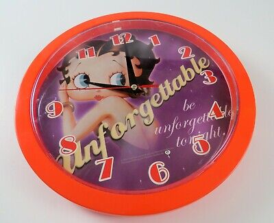 Betty Boop Battery Powered Wall Hanging Clock