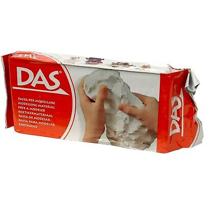 DAS Air Hardening Modeling Drying Craft Clay 2.2 Pound pack (1000 gram), White
