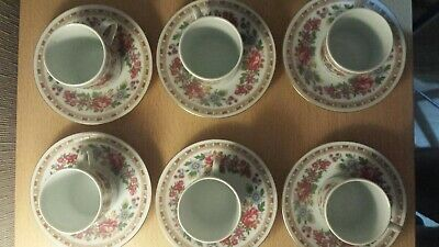 Minature Chinese Tea Cup Set, Stamped, Porcelain Set, Beautiful Looking.