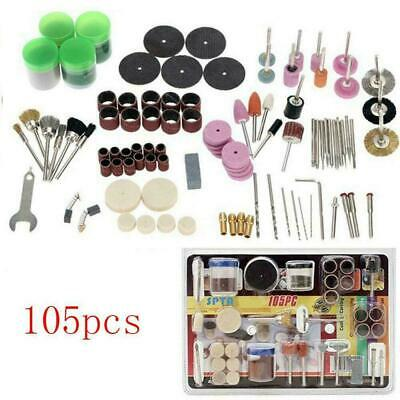105Pcs Mini Electric Drill Grinder Rotary Tool Grinding Accessory Polishing L7S0