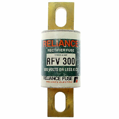 Reliance Electric Rfv-300 Rectifier Fuse, 500-Volts, 300-Amps