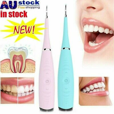 Electric Sonic Dental Scaler Tartar Calculus Plaque Remover Tooth Stains Tool KC