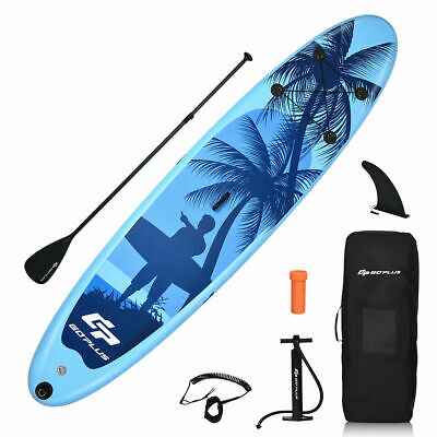 335CM/11FT ISUP Inflatable Stand Up Surfing Board Soft Surf Paddle Board W/Pump
