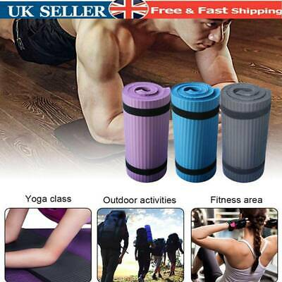 15mm Thick Yoga Mat Gym Workout  Fitness Pilates Wome Exercise Mat Non Slip New.