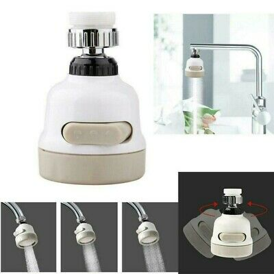 360° Moveable Kitchen Tap Head Rotate Faucet Nozzle Booster Shower Water Saver