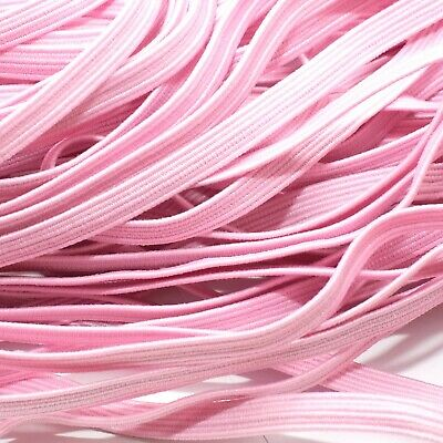 One Metre Of Soft, Stretchy, Flat Elastic, Light Pink Colour, 6 Mm Wide