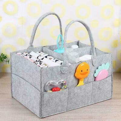 Baby Diaper Caddy Organiser Nappy Mummy Changing Bag Bottle Storage Handbag Grey