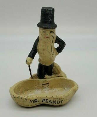 Vintage Planters Mr Peanut Cast Iron Figurine