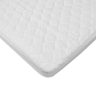 """American Baby BASSINET Waterproof Quilted Mattress Pad Cover 15""""x 33"""" Fitted"""