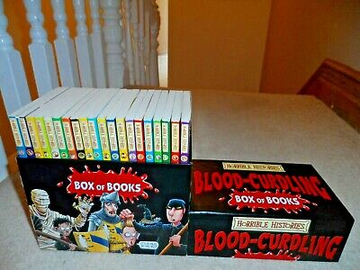 20 x HORRIBLE HISTORIES BLOOD-CURDLING PAPERBACK BOOKS BOX SET - NEVER BEEN READ