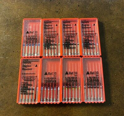 Dentsply Maillefer Engine Driven K-Reamers 25mm 15-45 8 boxes Dental Endo