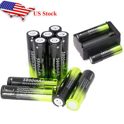 Li-ion 3.7V 18650 Rechargeable Battery For LED Flashlight with Charger