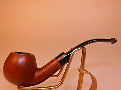 New Unsmoked Spitfire by Lorenzo Italy Bent Sm Apple Briar Pipe Italian Rubber
