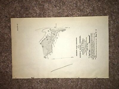 1901 Map of Hatchie Island Crossing TN Dredged Area US Light MS River Commission