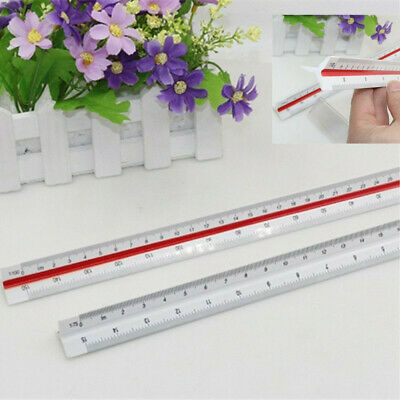 1PC 150mm Triangular Tri Scale Ruler Architect Engineers Rule