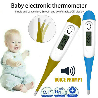Digital LCD Thermometer Medical Baby Adult Kids Safe Body Ear Mouth Temperature