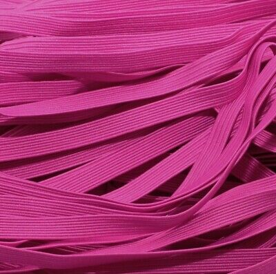 One Metre Of Soft, Stretchy, Flat Elastic, Fuschia Pink Colour, 6 Mm Wide