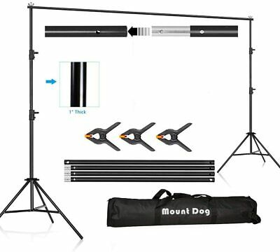 6.5 x 10 ft Backdrop Stand Heavy Duty Adjustable Photography 2x3M Muslin
