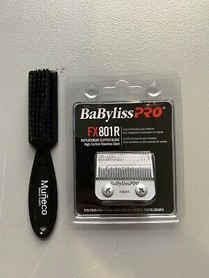 BaBylissPRO FX801R Replacement Clipper Blade stainless Steel+ Brush Small FREE
