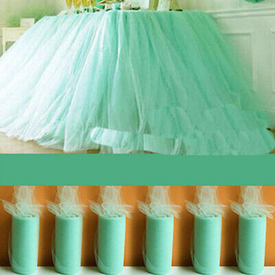 "TUTU TULLE ROLL 6"" wide x 25 yards Soft Netting Craft Fabric Nylon Wedding"