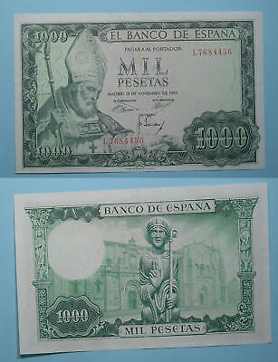 1965 Spain 1000 Pesetas About Uncirculated Condition P151 Inv#Pm118-15