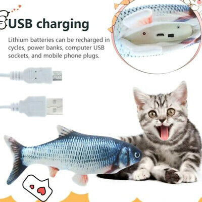 Electric Cat Wagging Fish Toy for Cats Biting Chewing and Kicking Catfish US