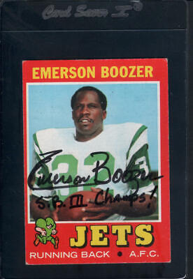 1971 Topps Football Autograph Cards #1-263 - YOU PICK