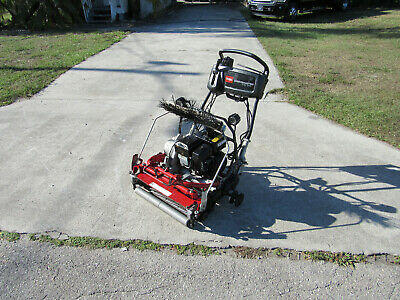 "2013 Toro Greensmaster Flex 2100 Greens Reel Lawn Mower 21"" Cut # 04044 Basket"