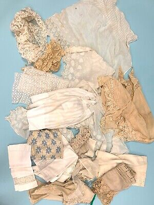 Antique Victorian Edwardian cotton lace crochet trim lot for crafting