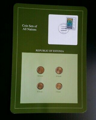 Coin Sets of All Nations Republic of Estonia 1991-92 EESTI TALLINN 4 Coins