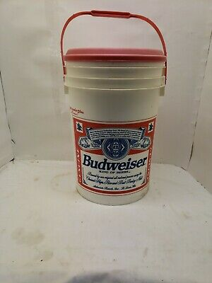 VTG 1994 Budweiser Beer 6 Gallon Super Cooler Plus With Lid Bucket Ice Chest