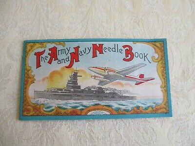 Vintage The Army and Navy Needle Book - with Sewing Needles