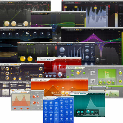 Fabfilter Total Bundle with New Saturn 2 Works AAX for Pro tools or Any DAW