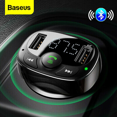 Baseus Handsfree FM Transmitter Wireless Bluetooth Car Kit MP3 Adapter Charger