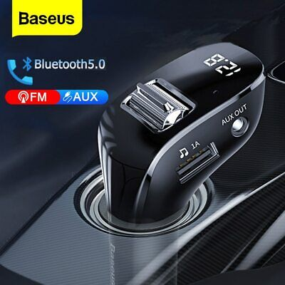Baseus Wireless Bluetooth 5.0 FM Transmitter Handsfree MP3 Adapter USB Charger