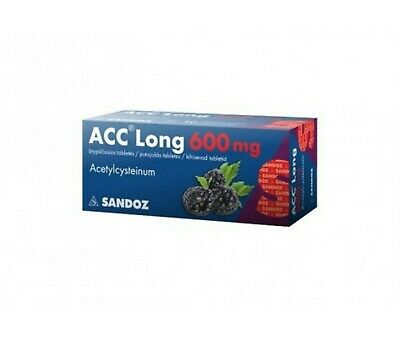 ACC Long 600 Chronick Bronchitis,Lung abscess Tracheitis 10 Tablet  EXP 03/2022