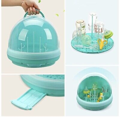 Portable Baby Bottle Drying Racks With Anti-dust Cover