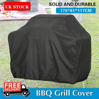 170CM Heavy Duty BBQ Cover Waterproof Medium Barbecue Grill Outdoor Protect UK