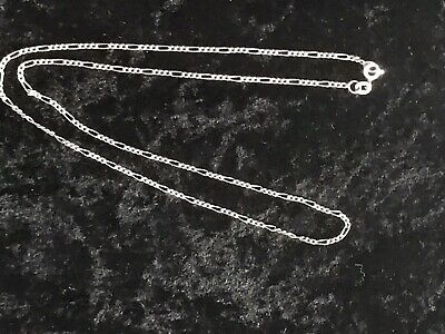 """6mm 18-36/"""" Stainless Steel Figaro Necklace Chain Pendant Silver Tone 3mm stnF6S"""