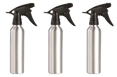 3 Pack Aluminum Spray Bottles - 8 oz Each