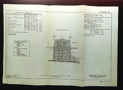 1904 Sketch Diagram Buffalo NY Timber Crib Corps of Engineers
