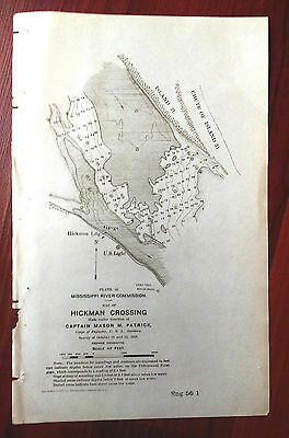 1898 Sketch Map Hickman Crossing Mississippi River