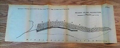 1882 Sketch Map Beard's Island Protection Mississippi River