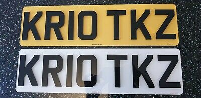 SHORT PLATES 3M Road Legal Front & Rear 4D Acrylic Raised Number Plates