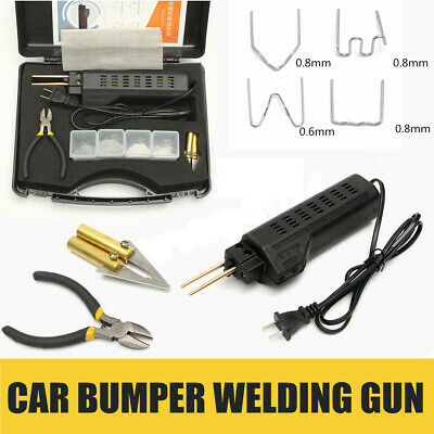 Hot Stapler Car Bumper Fender Fairing^Welder Gun Plastic Repair Kit 200 Staples